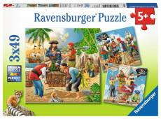 Adventure on the High Seas (Triple pack) (RB08030-4), a 49 piece Ravensburger jigsaw puzzle.