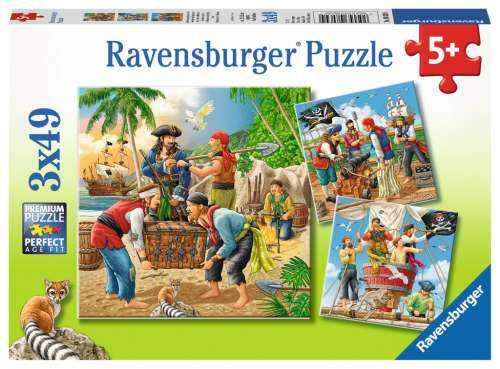 Adventure on the High Seas (Triple pack) (RB08030-4), a 49 piece jigsaw puzzle by Ravensburger. Click to view larger image.