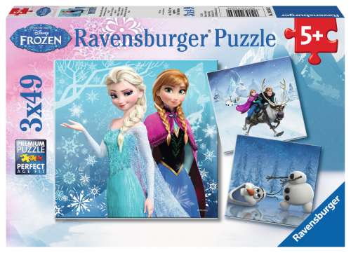 Disney Winter Adventures (Triple pack) (RB09264-2), a 49 piece jigsaw puzzle by Ravensburger. Click to view larger image.
