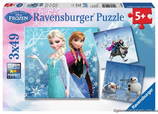 Disney Winter Adventures (Triple pack) (RB09264-2), a 49 piece jigsaw puzzle by Ravensburger.