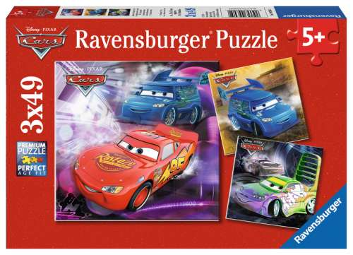 Disney Cars (Triple pack) (RB09305-2), a 49 piece jigsaw puzzle by Ravensburger. Click to view larger image.