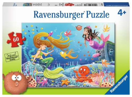 Mermaid Tales (RB09638-1), a 60 piece jigsaw puzzle by Ravensburger. Click to view larger image.