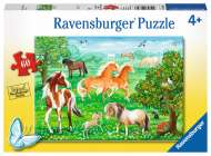 Mustang Meadow (RB09639-8), a 60 piece Ravensburger jigsaw puzzle.