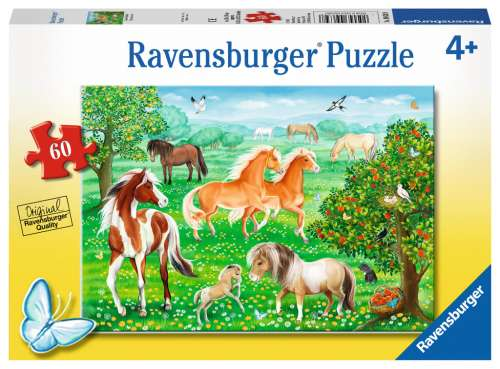 Mustang Meadow (RB09639-8), a 60 piece jigsaw puzzle by Ravensburger. Click to view larger image.