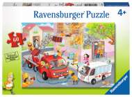 Firefighter Rescue! (RB09641-1), a 60 piece Ravensburger jigsaw puzzle.