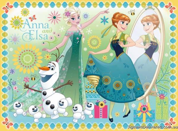 Disney Frozen Fever (RB10584-7), a 100 piece jigsaw puzzle by Ravensburger.