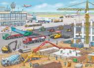 Construction Site at the Airport (RB10624-0), a 100 piece Ravensburger jigsaw puzzle.