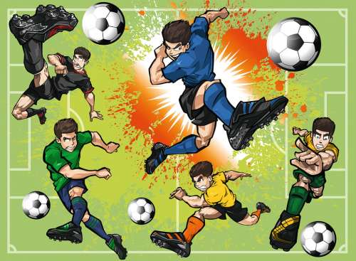 Soccer Fever (RB10693-6), a 100 piece jigsaw puzzle by Ravensburger. Click to view larger image.