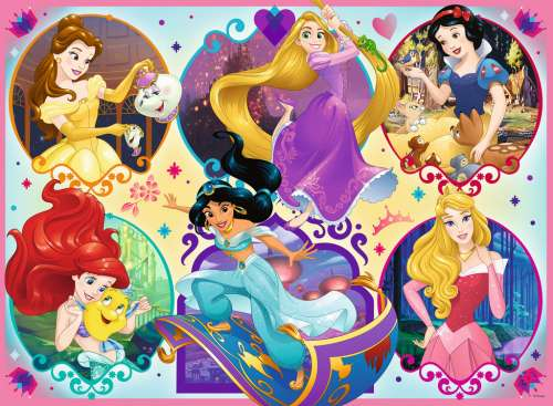 Disney Princess 2 (RB10796-4), a 100 piece jigsaw puzzle by Ravensburger. Click to view larger image.