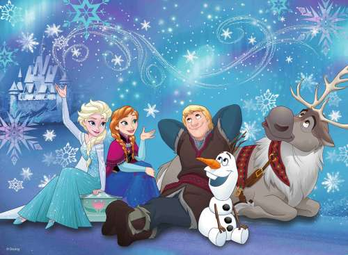 Disney Ice Magic (RB10911-1), a 100 piece jigsaw puzzle by Ravensburger. Click to view larger image.