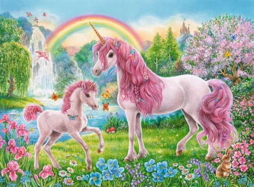 Magical Unicorns (RB13698-8), a 100 piece jigsaw puzzle by Ravensburger. Click to view larger image.