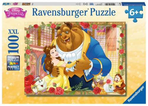 Disney Belle & Beast (RB13704-6), a 100 piece jigsaw puzzle by Ravensburger. Click to view larger image.