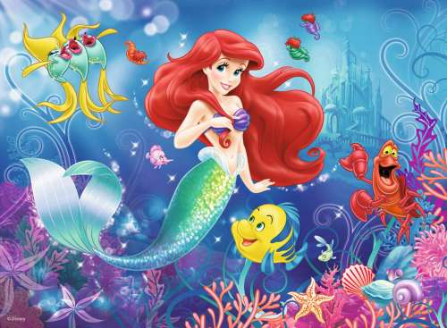 Disney Ariel The Little Mermaid (RB10003-3), a 150 piece jigsaw puzzle by Ravensburger. Click to view larger image.