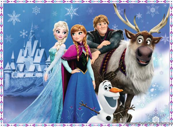 Disney Frozen Friends at the Palace (RB10027-9), a 150 piece jigsaw puzzle by Ravensburger.