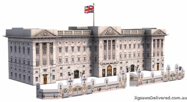 Buckingham Palace (3D Puzzle) (RB12524-1), a 216 piece jigsaw puzzle by Ravensburger.
