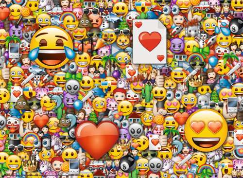 Emoji (RB13240-9), a 300 piece jigsaw puzzle by Ravensburger. Click to view larger image.