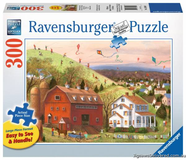 Let's Fly Kites (Large Pieces) (RB13589-9), a 300 piece jigsaw puzzle by Ravensburger.