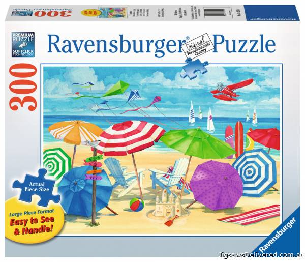 At the Beach (Large Pieces) (RB13590-5), a 300 piece jigsaw puzzle by Ravensburger.
