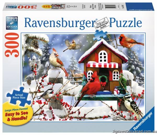 The Lodge (Large Pieces) (RB13591-2), a 300 piece jigsaw puzzle by Ravensburger.