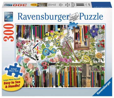Colour with Me (Large Pieces) (RB13592-9), a 300 piece jigsaw puzzle by Ravensburger. Click to view larger image.