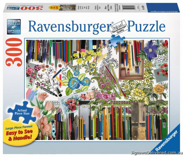 Colour with Me (Large Pieces) (RB13592-9), a 300 piece jigsaw puzzle by Ravensburger.