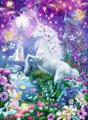 Unicorn in Glittery Forest (RB14951-3), a 500 piece Ravensburger jigsaw puzzle.
