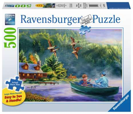 Weekend Escape (Large Pieces) (RB14964-3), a 500 piece jigsaw puzzle by Ravensburger. Click to view larger image.