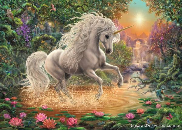 Mystical Unicorn (RB19793-4), a 1000 piece jigsaw puzzle by Ravensburger.
