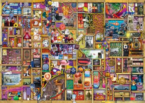 The Collector's Cupboard (RB19827-6), a 1000 piece jigsaw puzzle by Ravensburger. Click to view larger image.