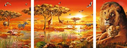 African Majesty (RB19836-8), a 1000 piece jigsaw puzzle by Ravensburger. Click to view larger image.