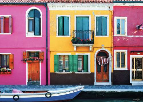 185 Graziella, Burano Island, Venice (RB19865-8), a 1000 piece jigsaw puzzle by Ravensburger. Click to view larger image.