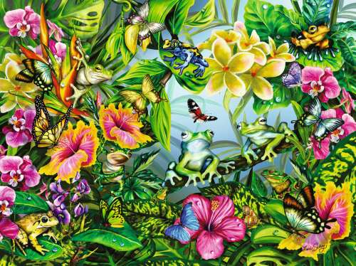 Find the Frogs (RB16363-2), a 1500 piece jigsaw puzzle by Ravensburger. Click to view larger image.