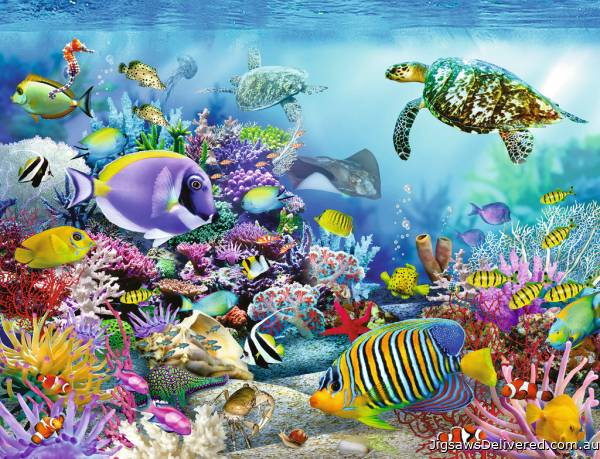 Coral Reef Majesty (RB16704-3), a 2000 piece jigsaw puzzle by Ravensburger.