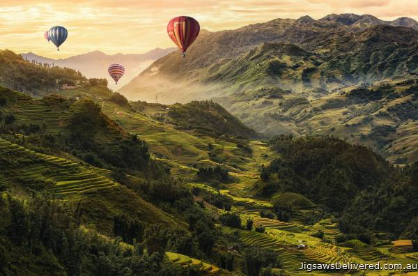 Hot Air Balloons (RB17076-0), a 3000 piece jigsaw puzzle by Ravensburger.