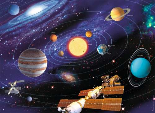 Solar System (RB14775-5), a 500 piece jigsaw puzzle by Ravensburger. Click to view larger image.