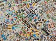 Stamps (RB14805-9), a 500 piece Ravensburger jigsaw puzzle.