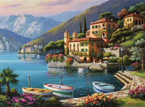 Villa Bella Vista, Italy (RB14797-7), a 500 piece jigsaw puzzle by Ravensburger. Click to view larger image.