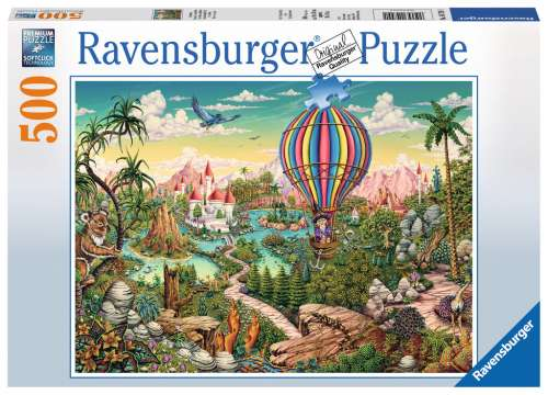 Hot Air Hero (RB14799-1), a 500 piece jigsaw puzzle by Ravensburger. Click to view larger image.