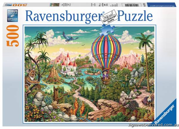 Hot Air Hero (RB14799-1), a 500 piece jigsaw puzzle by Ravensburger.
