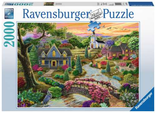 Enchanted Valley  (RB16703-6), a 2000 piece jigsaw puzzle by Ravensburger. Click to view larger image.