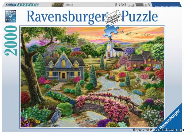 Enchanted Valley  (RB16703-6), a 2000 piece jigsaw puzzle by Ravensburger.