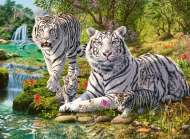 White Tigers (RB14793-9), a 500 piece Ravensburger jigsaw puzzle.