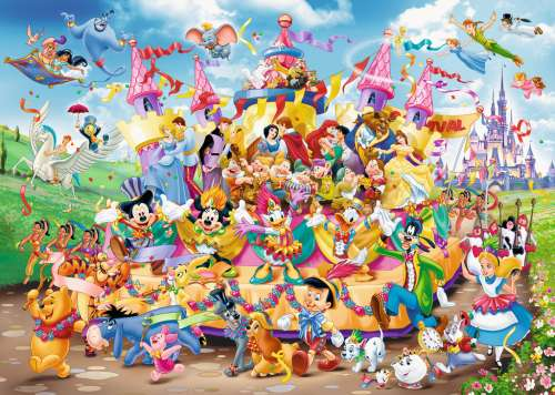 Disney Carnival (RB19383-7), a 1000 piece jigsaw puzzle by Ravensburger. Click to view larger image.