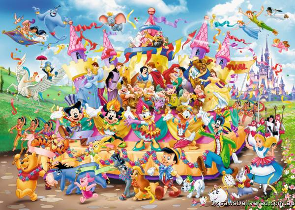 Disney Carnival (RB19383-7), a 1000 piece jigsaw puzzle by Ravensburger.