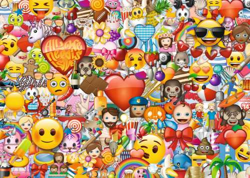 Emoji (RB19772-9), a 1000 piece jigsaw puzzle by Ravensburger. Click to view larger image.