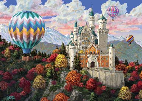 Neuschwanstein Daydream (RB19857-3), a 1000 piece jigsaw puzzle by Ravensburger. Click to view larger image.