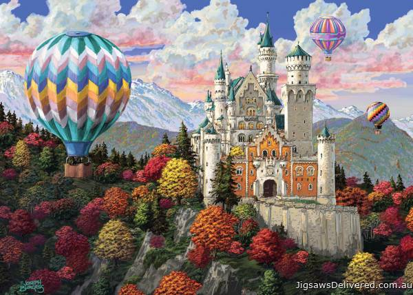 Neuschwanstein Daydream (RB19857-3), a 1000 piece jigsaw puzzle by Ravensburger.