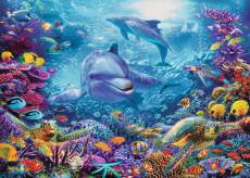 Magnificent Underwater World (RB19833-7), a 1000 piece Ravensburger jigsaw puzzle.