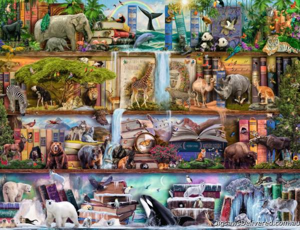 Wild Kingdom (RB16652-7), a 2000 piece jigsaw puzzle by Ravensburger.