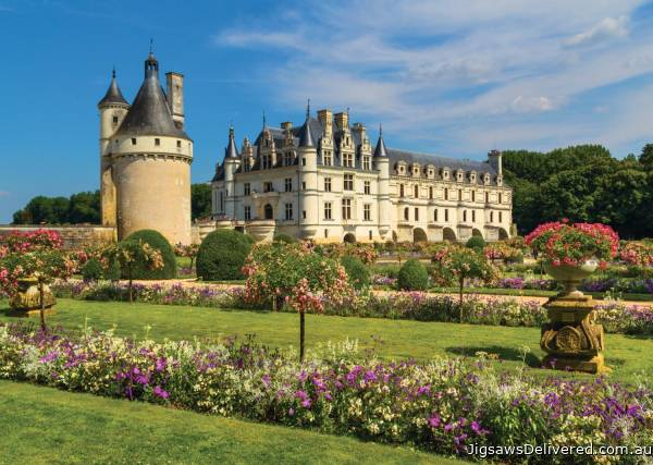Castle in the Loire Valley, France (JUM18555), a 1000 piece jigsaw puzzle by Jumbo.